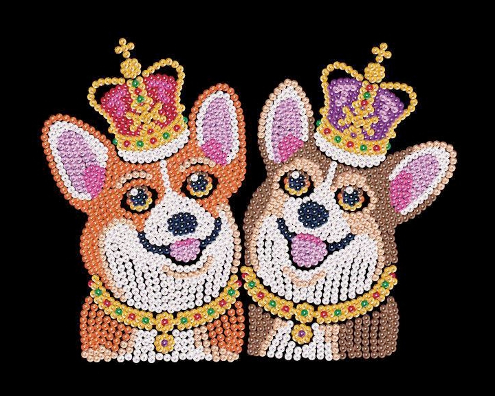 Spick & Span corgi dogs are from the Sequin Art Red collection