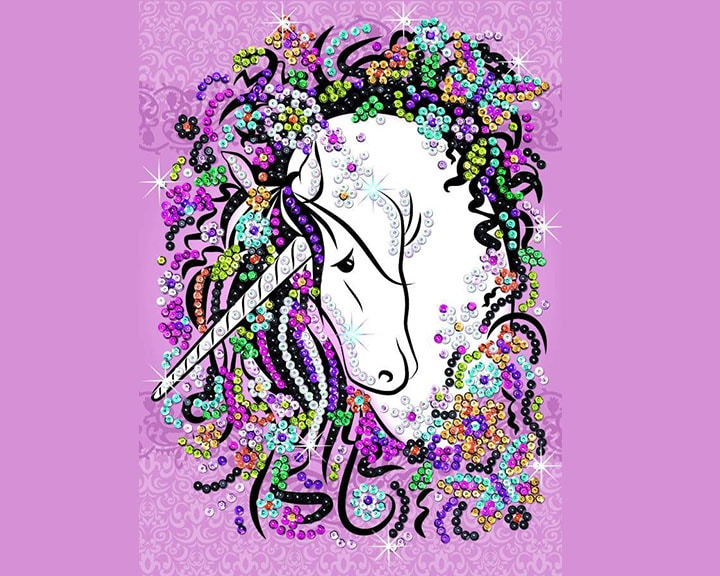 Sequin Art Unicorn design from the Craft Teen range