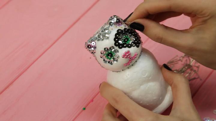Sequin Art 3D Cat Tutorial video
