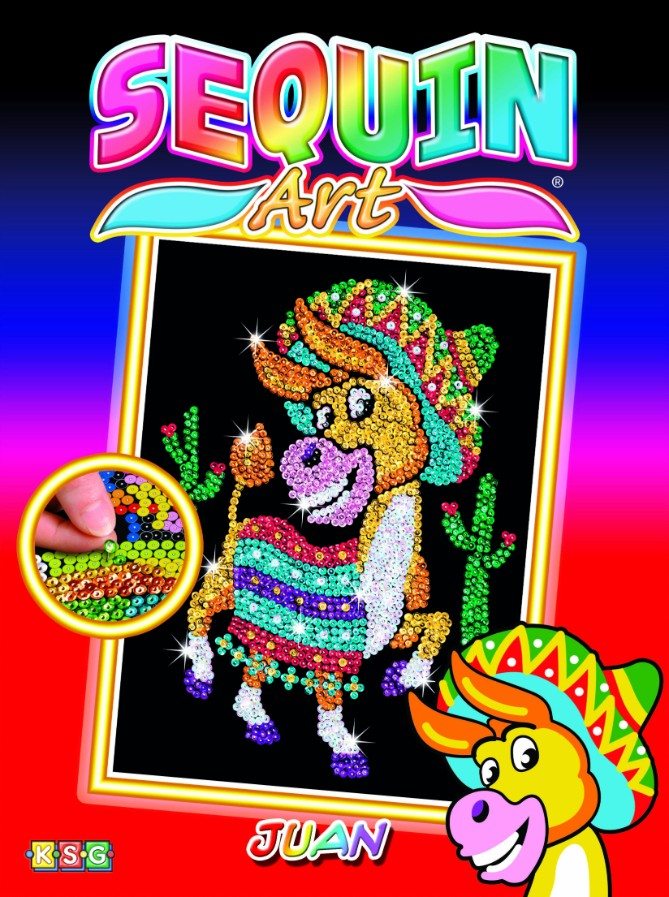 Meet Juan the Donkey from The Sequin Art Red collection.