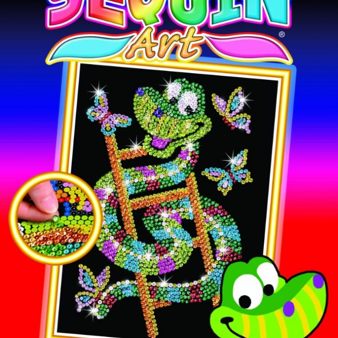 Sidney the Snake from the Sequin Art Red collection