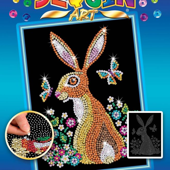 Hare design Box from the Sequin Art Blue Range