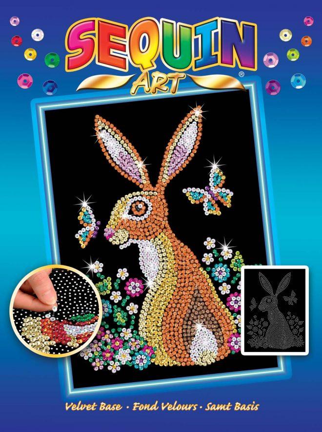 Hare design Box from the Sequin Art Blue Range
