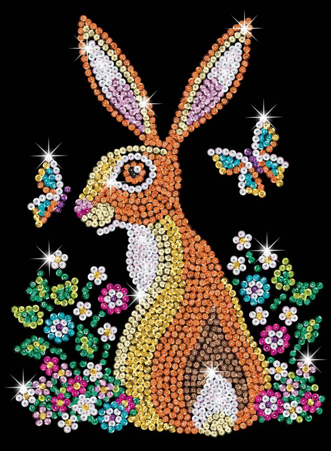 Beautiful Hare design from the Sequin Art Blue Range