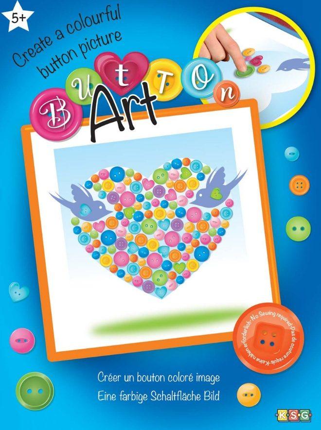 Beautiful Heart design from our Button Art Range