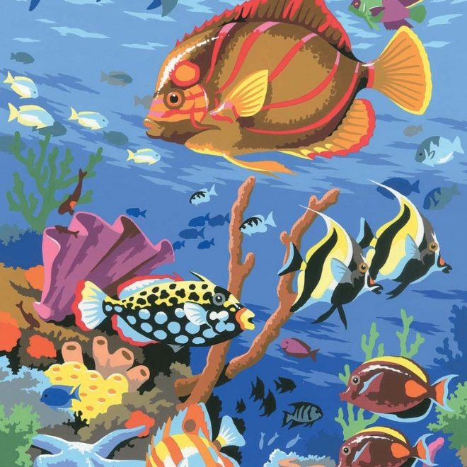 Junior Painting By Numbers Coral Scene