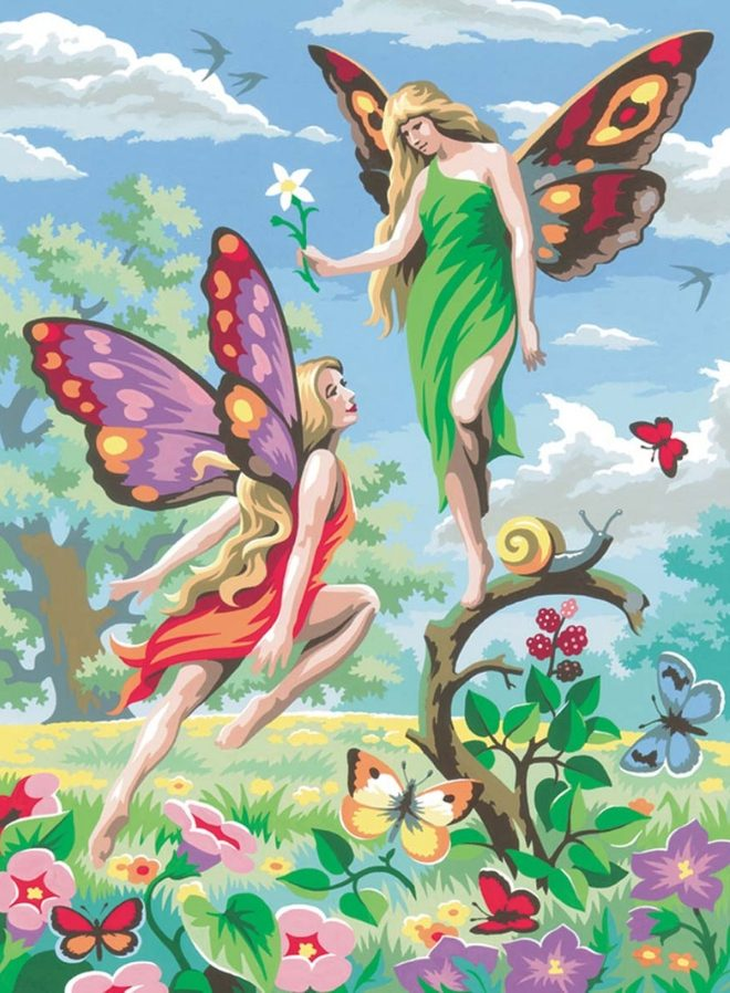 Painting By Numbers Fairies design