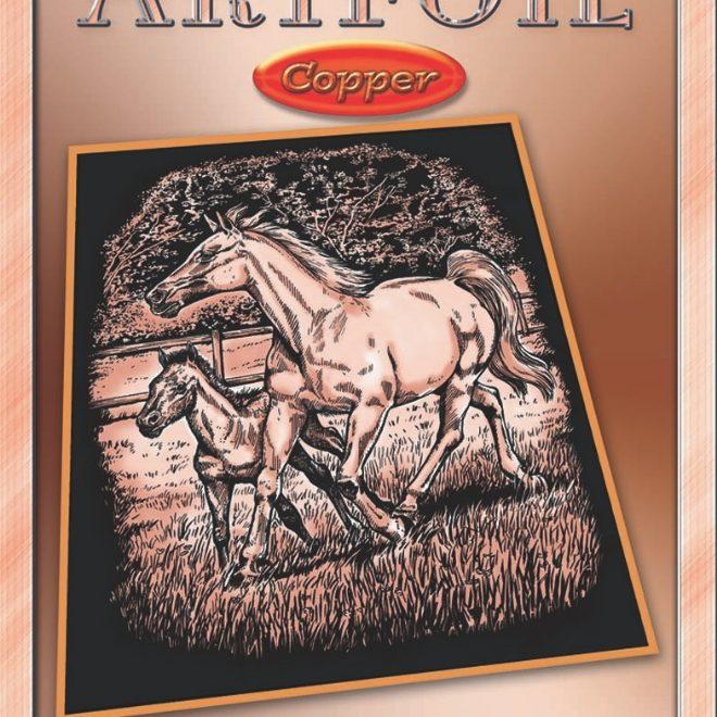 Box of Artfoil Copper craft - Horse & Foal design