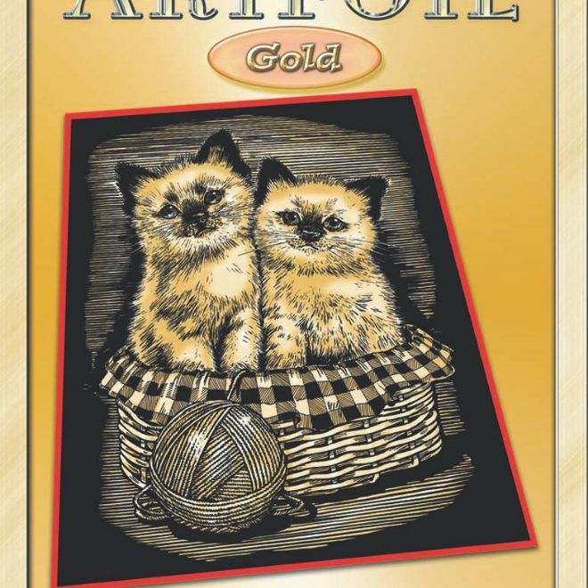 Artfoil Gold Kittens Design Box