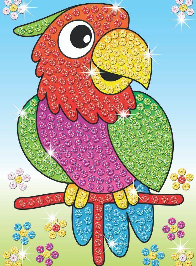 Laser Sequin Art adorable Parrot