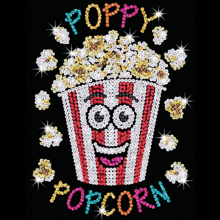 Poppy Popcorn Design From Sequin Art Red Range