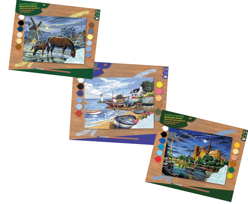 Senior Painting By Numbers Bundle includes three projects