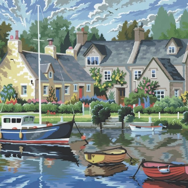 Senior Painting By Numbers Tranquil Waters