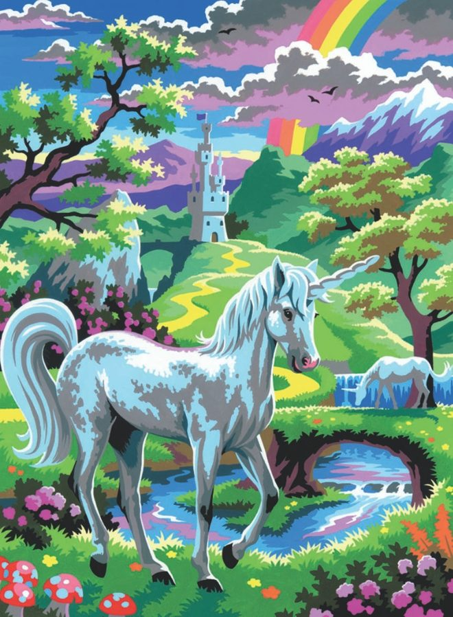 Beautiful Unicorn design from the Junior Painting By Numbers Range