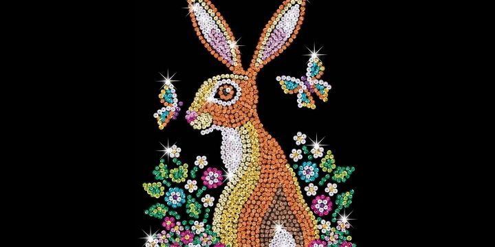 Brand new Sequin Art Blue design - stunning Hare