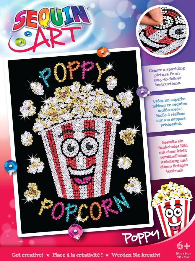 Meet Poppy Popcorn from the Sequin Art Red Collection