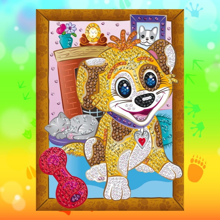 Playful Puppy Boop from the Sequin Art Smoogles Range