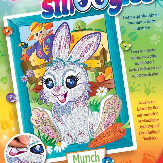 Sequin Art Smoogles beautiful white Bunny Munch Box