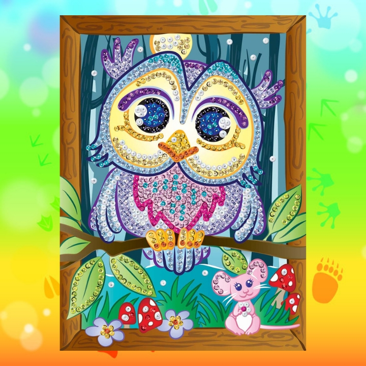 Adorable Owl Hoot from the Sequin Art Smoogles collection