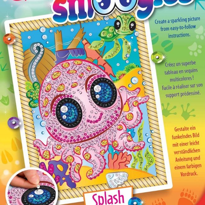 Adorable Octopus Splash Craft from the Sequin Art Smoogles collection