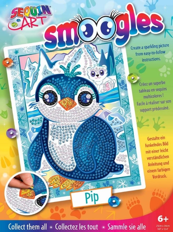 Sequin Art Smoogles Penguin Pip