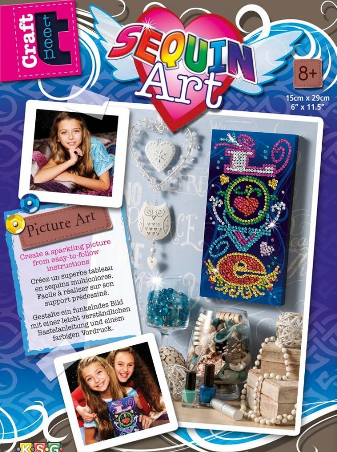 Sequin Art Picture Art Love project