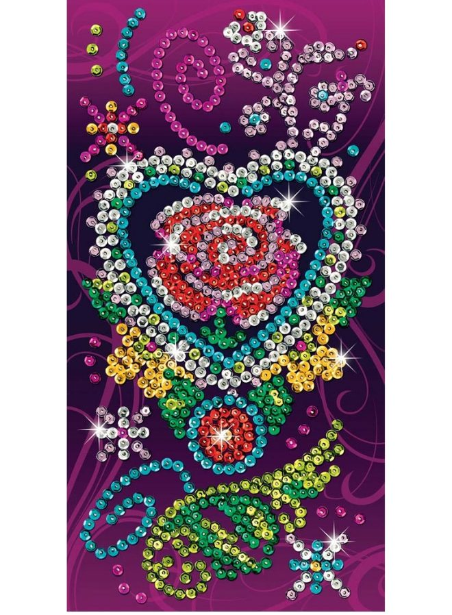 Create a beautiful Rose artwork with the Sequin Art Picture Art craft