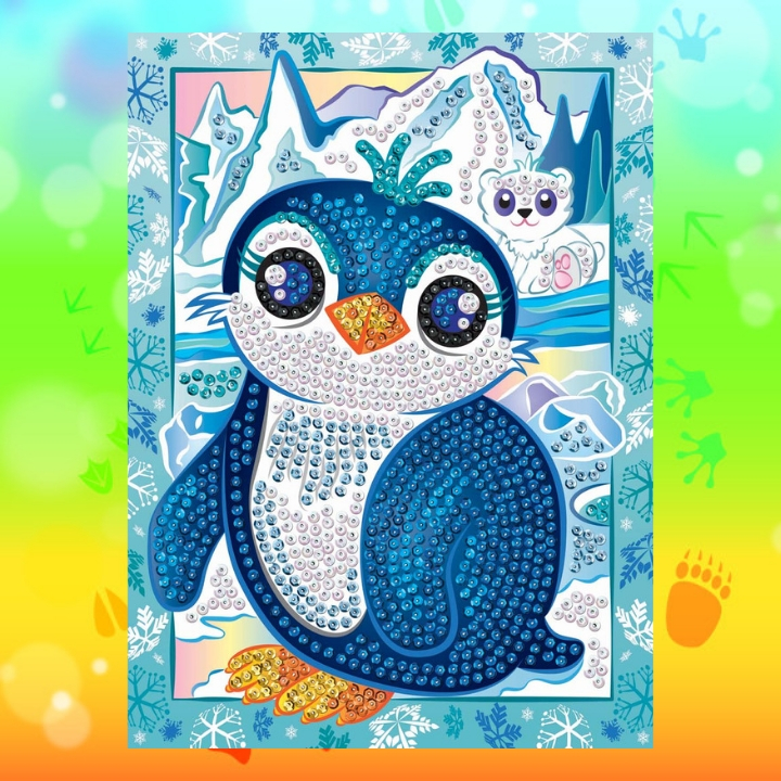 Penguin Pip from the Sequin Art Smoogles Range