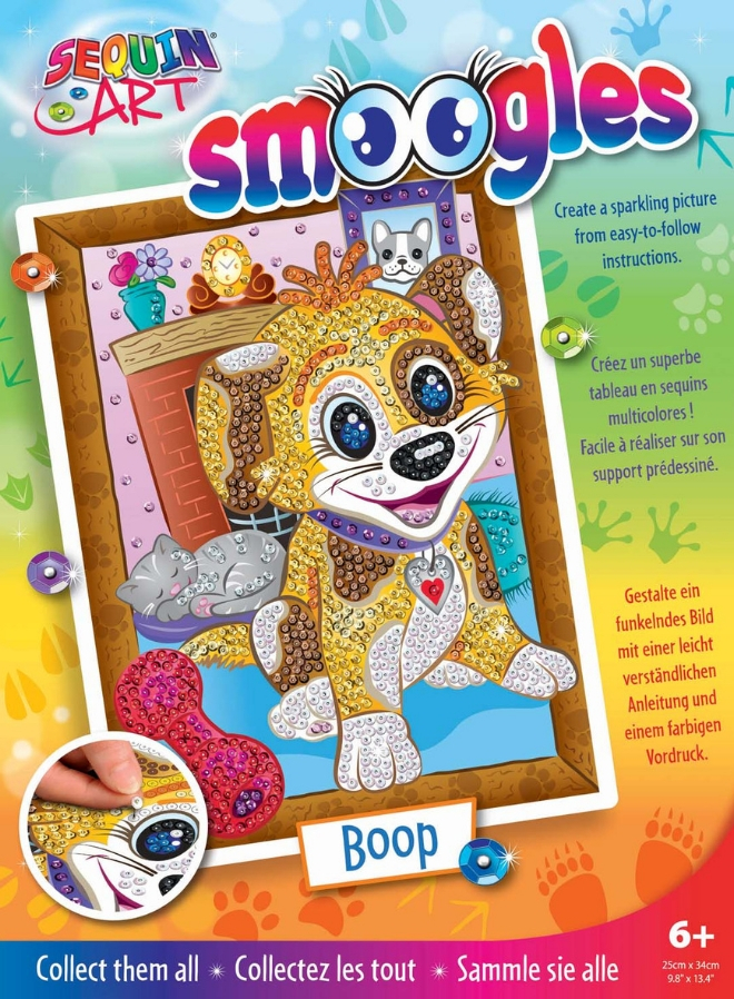 Puppy Boop from the Sequin Art Smoogles collection