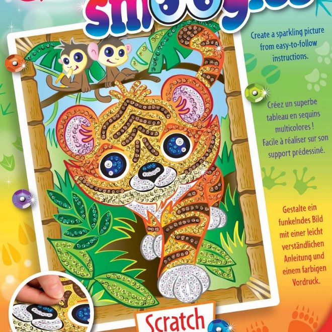 SequinArt Smoogles family features Tiger Scratch