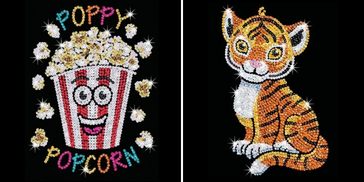Poppy Popcorn & Tia Tiger from Sequin Art Red Range