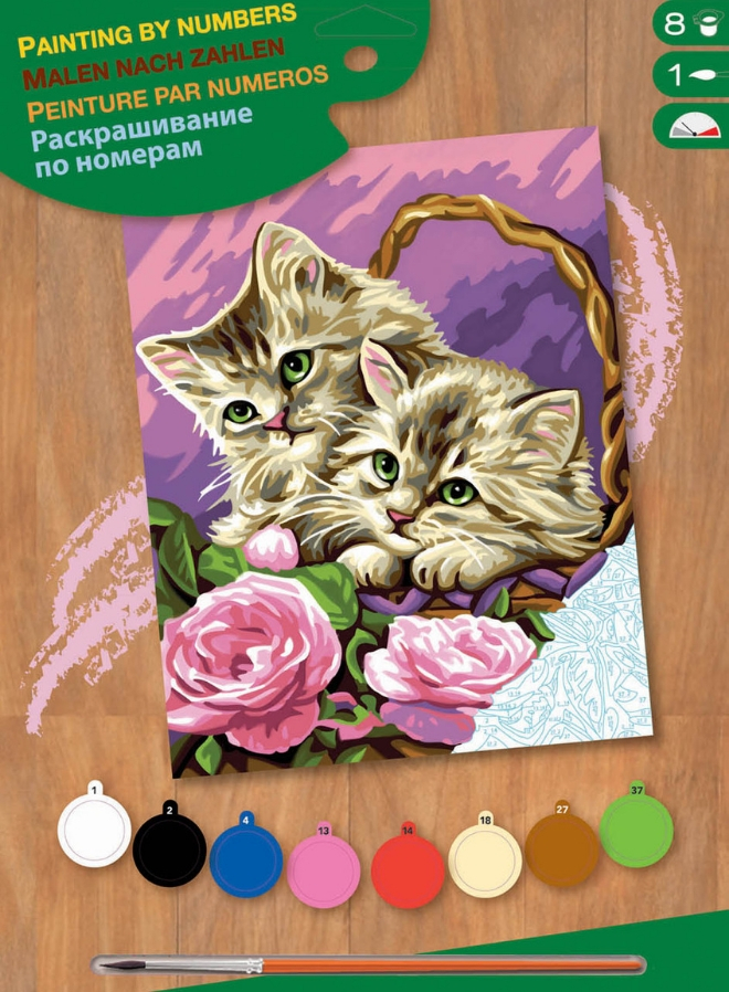 Painting By Numbers Floral Kittens Box 1041