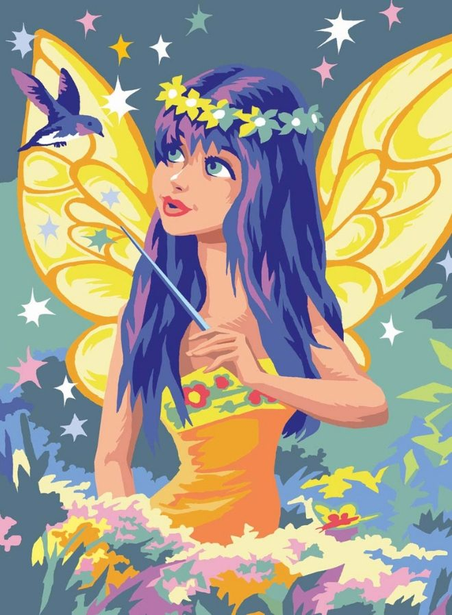 Junior Painting By Numbers Golden Fairy kit