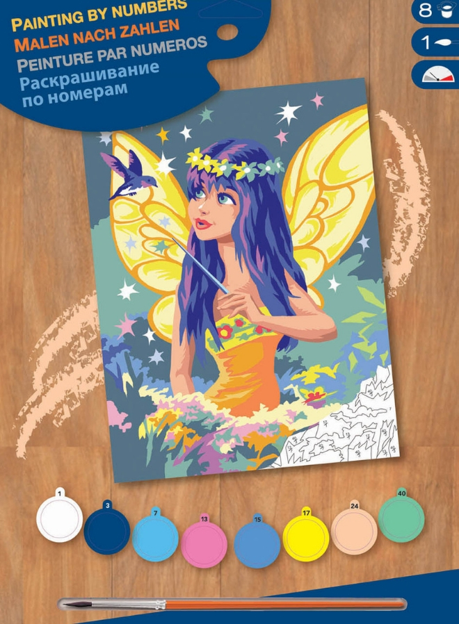 Junior Painting By Numbers Golden Fairy Box