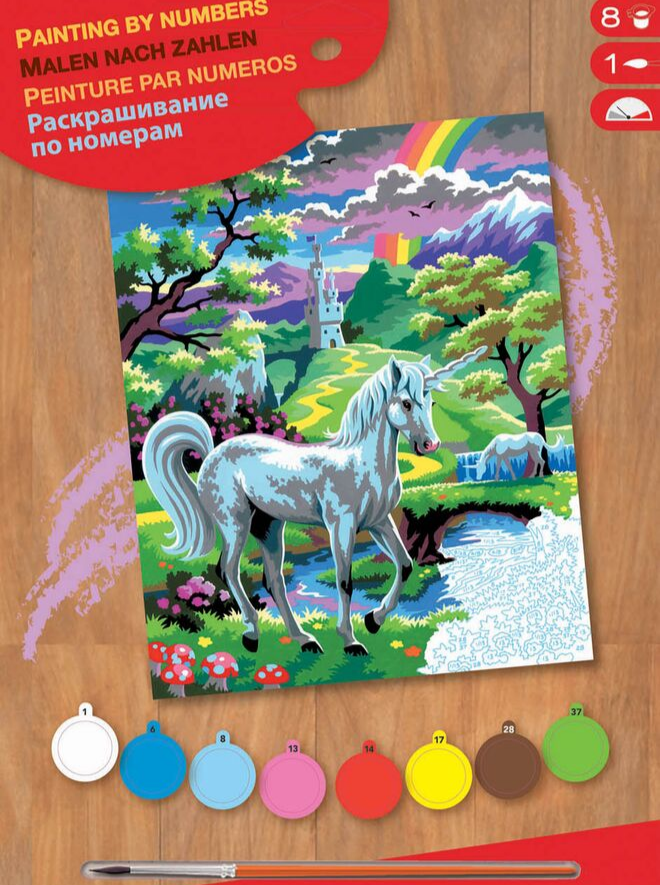 Painting By Numbers Unicorn design