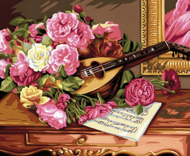 Painting By Numbers Romantic Bouquet1037