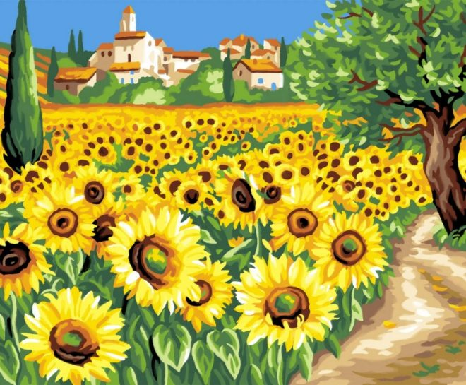 Senior Painting By Numbers Sunflowers design 1333