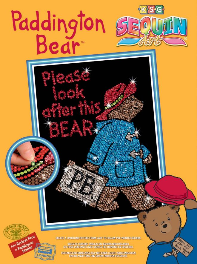 Sequin Art Paddington Bear Box 1323