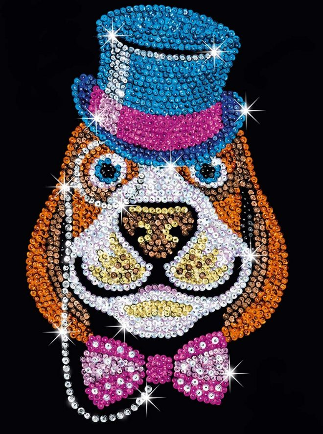 Lord Bertie craft project from the Sequin Art Red Range