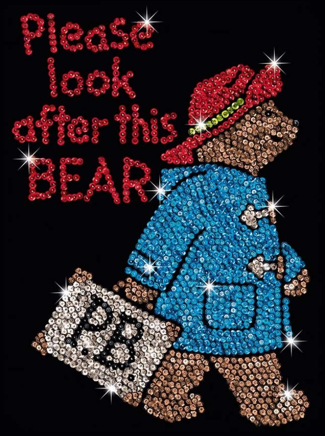 Sequin Art Paddington Bear Project