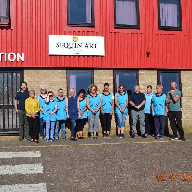 Sequin Art Norfolk Factory Tour