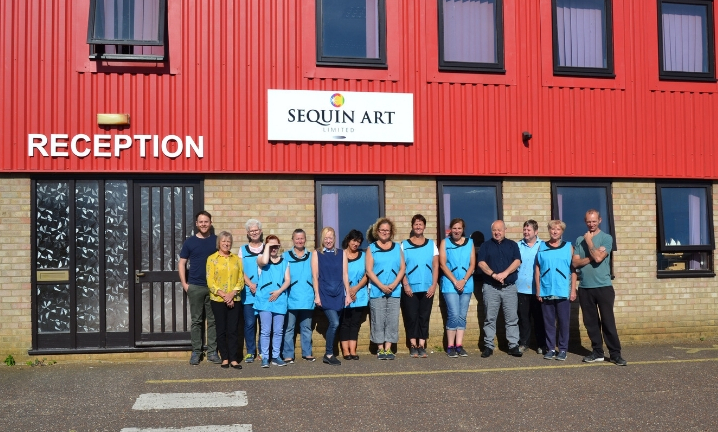 Sequin Art team in Swaffham, Norfolk