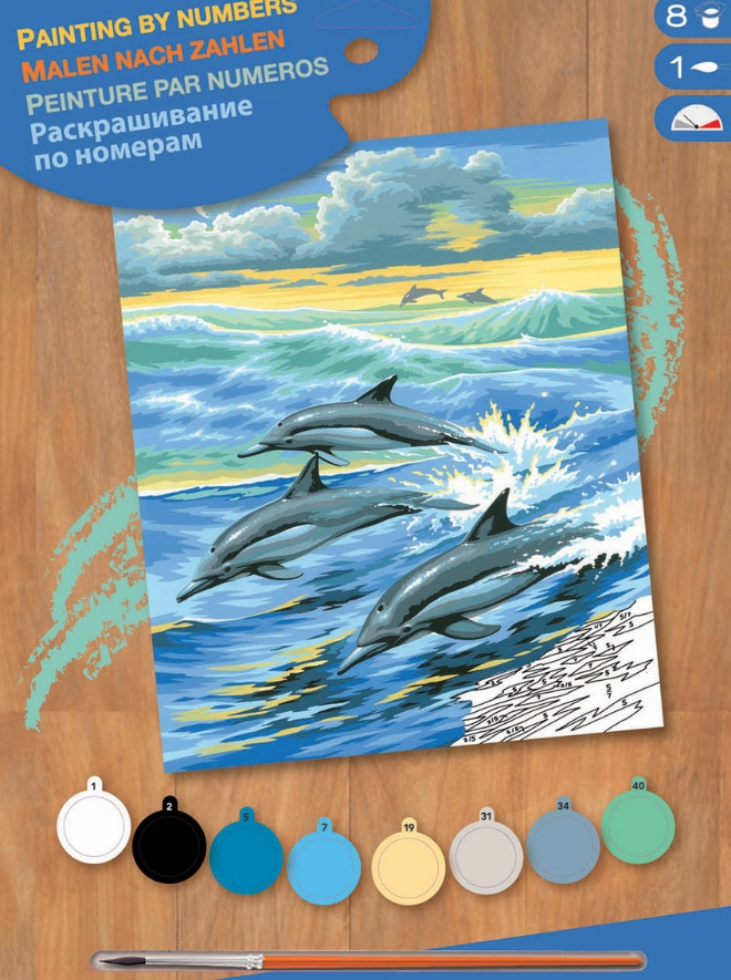 Painting By Numbers Dolphins project