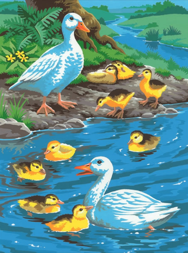 Ducks design from our painting by numbers collection