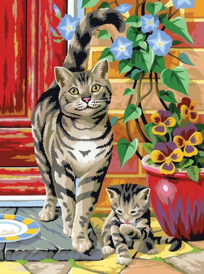 Painting By Numbers Cats project