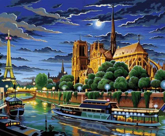 Senior Painting By Numbers Notre Dame Paris Cathedral