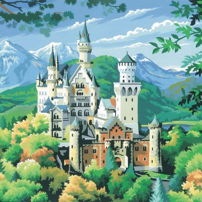 Senior Painting By Numbers Neuschwanstein Castle paint craft project
