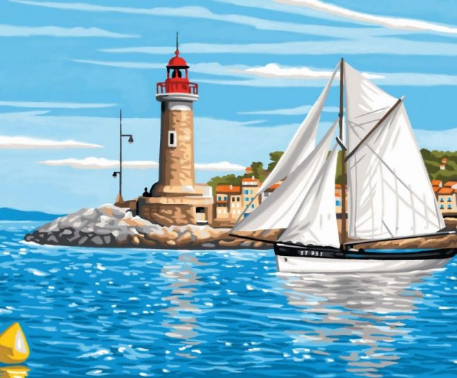 Get creative with this Senior Painting By Numbers Outward Bound paint project