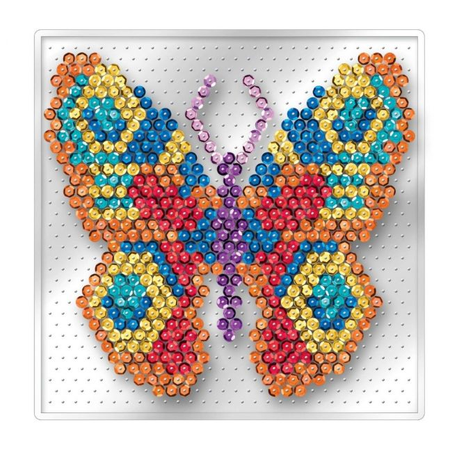Beautiful Butterfly craft project from the Pin-free Sequin Art collection