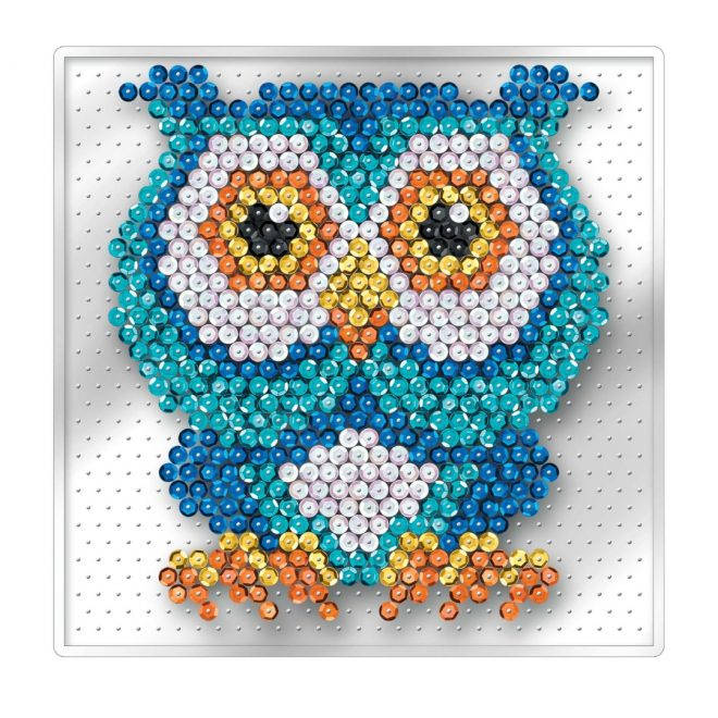 kids Sequin Art craft project features adorable owl picture